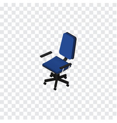 Isolated chair isometric office element vector
