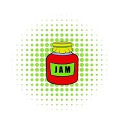 Jam icon pop-art style vector