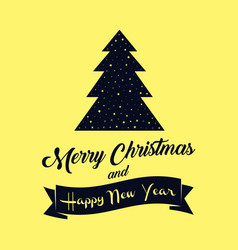 merry christmas and happy new year banner or vector image