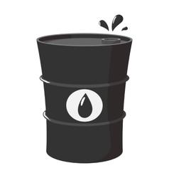 Metal oil barrel cartoon icon vector