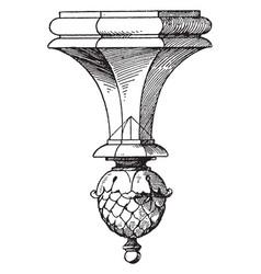 Part of lantern pendant knob die castings vintage vector