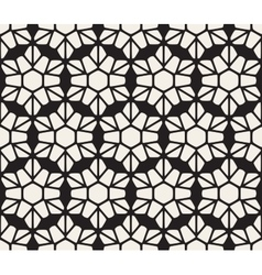 Seamless black and white rounded lace petal vector