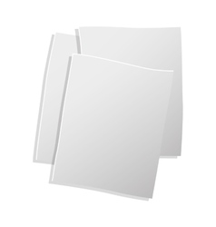 Sheets of paper in 3d vector