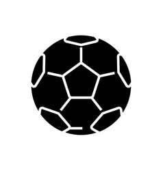 soccer ball - football icon vector image vector image