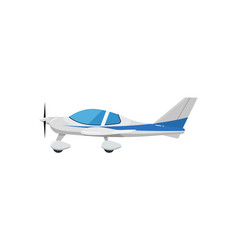 Speedy sport airplane isolated icon vector