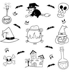 Stock element halloween doodle vector