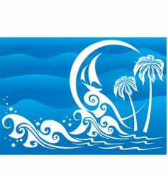 the dark blue sea vector image vector image