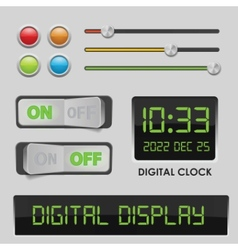 user interface design elements vector image