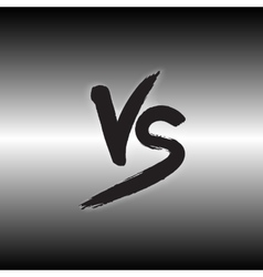 Versus letters logo Black V and S flat style vector image