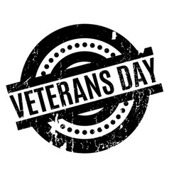 Veterans day rubber stamp vector