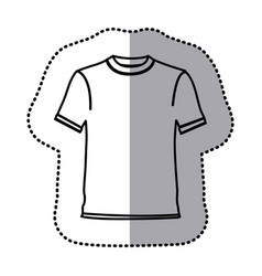 Figure t-shirt cloth icon vector