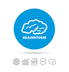 Brainstorm sign icon intelligent smart mind vector