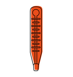 Analog thermometer healthcare icon image vector