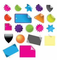 Tags badges and stickies vector