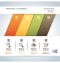 Business step paper lines and numbers template vector