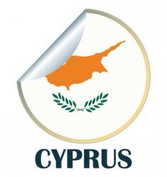 cyprus sticker vector image