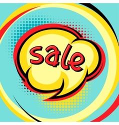 Sale comic speech bubble background in cartoon vector image