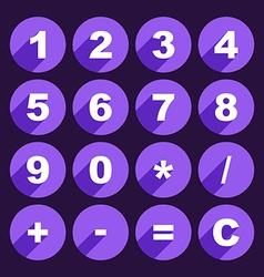Calculator keys vector image