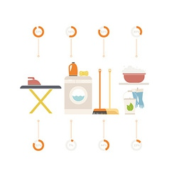 House cleaning infographic vector