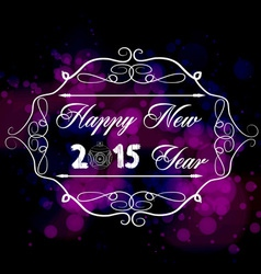 Happy new year typography handwriting vector