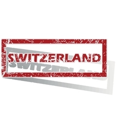 Switzerland outlined stamp vector