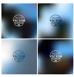 Blurred background set winter colors vector