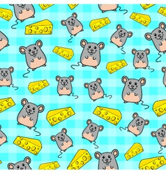 mice pattern vector image