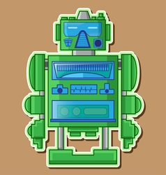 09 tin toy robot vector