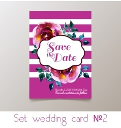 A set weddings invitation vector image