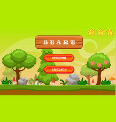 cartoon style game background vector image