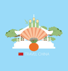 China flat design travel vector