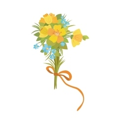 Daffodil yellow bouquet vector image vector image