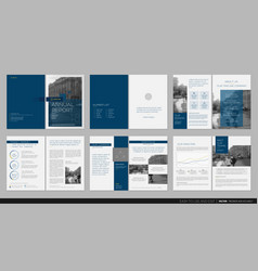 design annual report template brochures vector image vector image