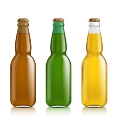 Different bottles on a white background vector image vector image