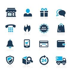 E-Shopping Icons Azure vector image