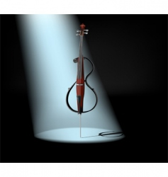electric cello vector image vector image