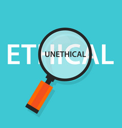 Ethical unethical concept comparison for moral vector