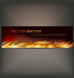 fire flame banner on gray vector image vector image