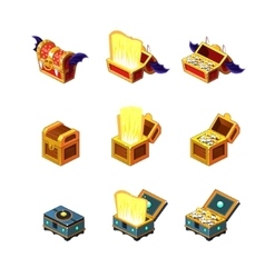 Flash Game Trasure Chest Collection vector image vector image