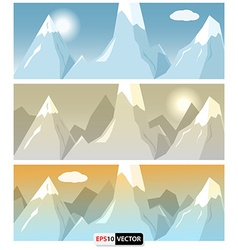Flat style mountains banners vector