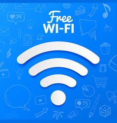 free wi-fi signal isolated abstract vector image vector image