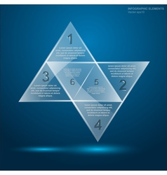 Glass triangle infographic 3 vector