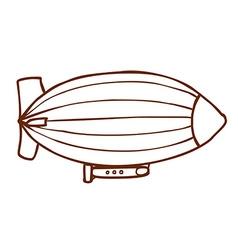 Hand drawn zeppelin vector