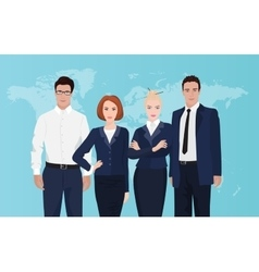 Happy group portrait of a professional business vector image