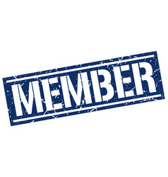Member square grunge stamp vector
