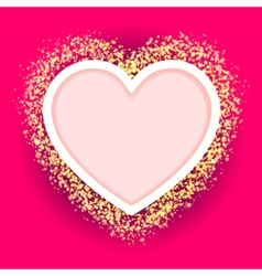 pink heart frame vector image