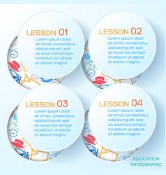 school presentation infographics vector image vector image