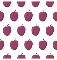 Seamless pattern with plums vector image