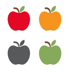 set of different apples design vector image vector image