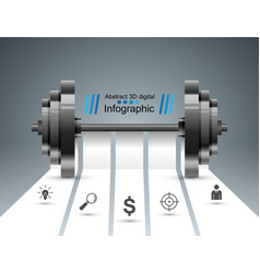 sports activity business infographics barbell vector image vector image